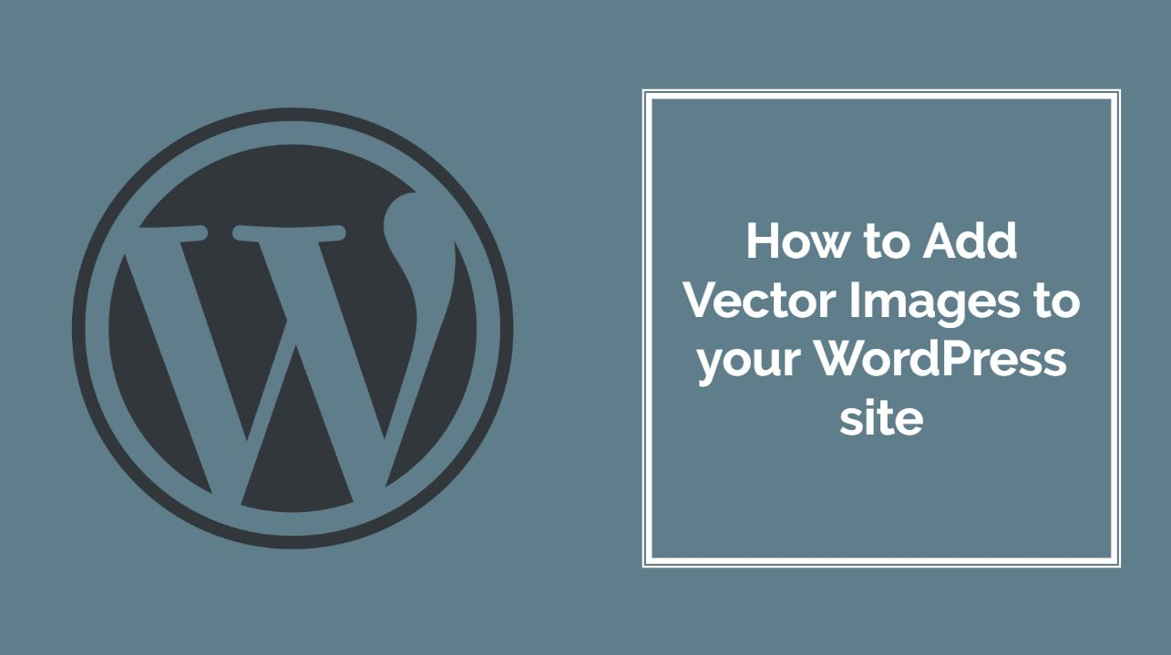 How to Add Vector Images in WordPress