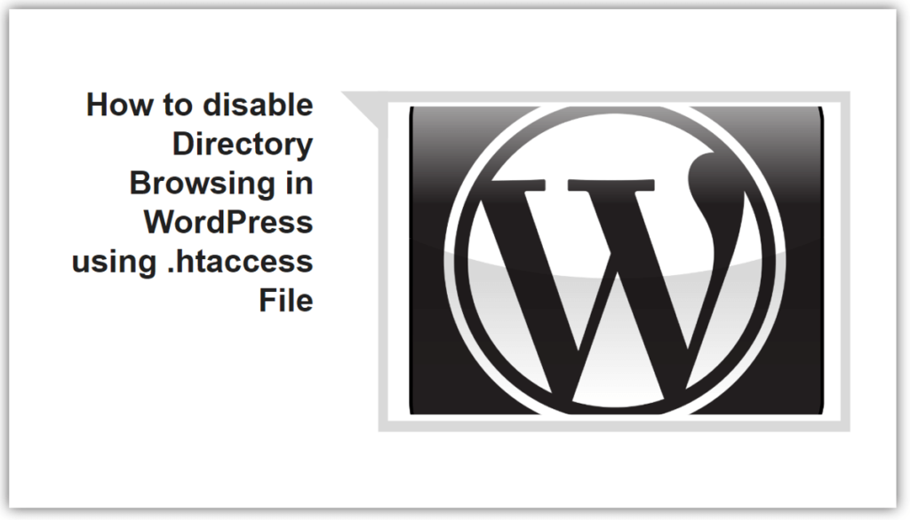 How to disable Directory Browsing in WordPress using .htaccess File