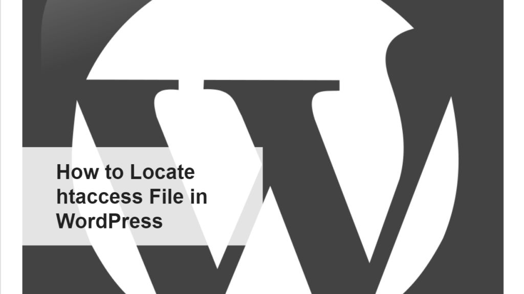 How to Locate htaccess File in WordPress