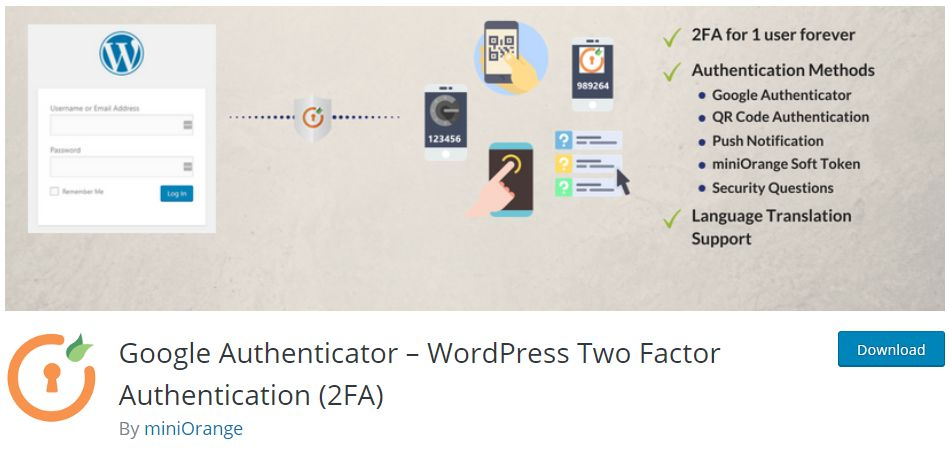 How to Add Two Factor Authentication to WordPress website