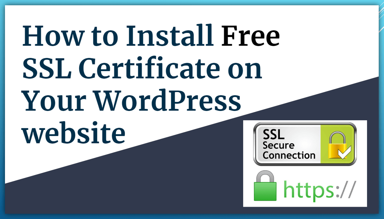 How to Install Free SSL Certificate in WordPress