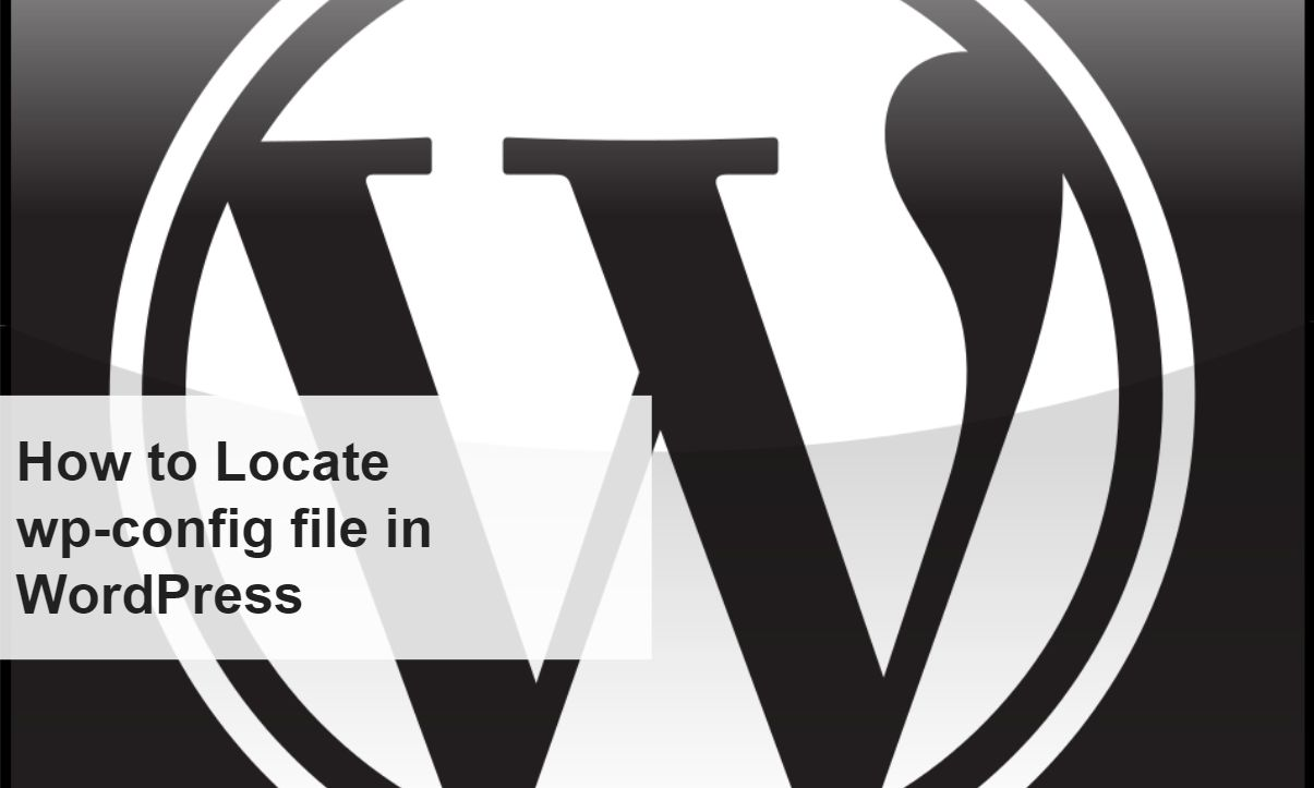 How to Locate wp-config file in WordPress